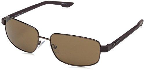 Columbia Men's Cliff Haven Rectangular Sunglasses, Walnut, 59 mm