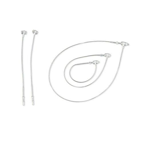 en 125mm - aus transparentem Kunststoff, Loop Pins von Pokornys [FSI125] ()