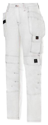 Snickers Damenbundhose Maler Größe: 34 weiß-weiß