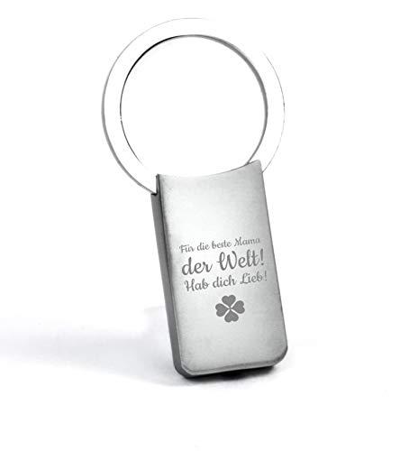 �sselanhänger mit Gravur/Anhänger personalisiert mit Namen für Paar/personalisierte Schlüsselanhänger - individuell beschriftbar - Silber matt ()