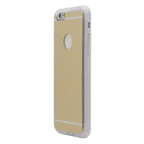 iProtect Qi-kompatible induktive TPU Schutzhülle Apple iPhone 6 Wireless Charging Hard Case in gold und transparent gold Hülle+Ladestation