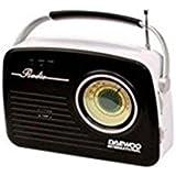 Radio Retro Daewoo Drp-130 Analogica Am/Fm- Usb- Sd Para Mp3- Negra