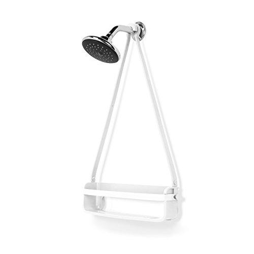 Umbra flex portaoggetti singolo da doccia, bianco, 40.64x11.11x62.23 cm