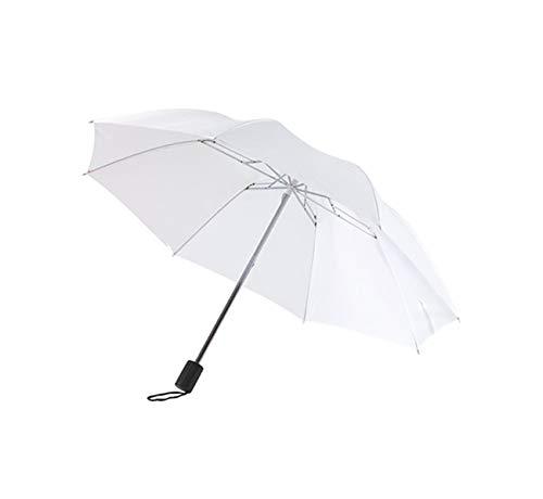 Paraguas Plegable con Apertura automática Paraguas de Bolsillo en Blanco