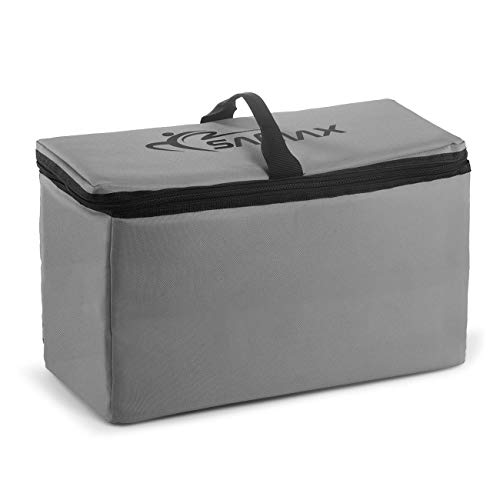 SAMAX Kühltasche Isoliertasche Kühlbox für Bollerwagen Offroad 42x19x24 cm Thermotasche Camping Faltbar - Grau