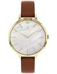 Sara Miller The Diamond Collection SA2024 - Reloj con Correa de Piel chapada en Oro