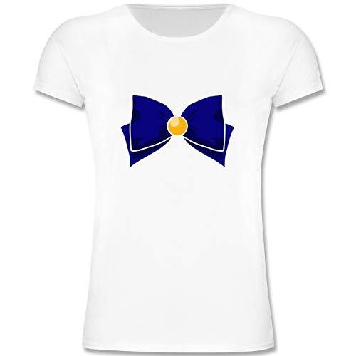 Girl Kostüm Shorts Sailor - Karneval & Fasching Kinder - Superheld Manga Venus Kostüm - 104 (3-4 Jahre) - Weiß - F131K - Mädchen Kinder T-Shirt