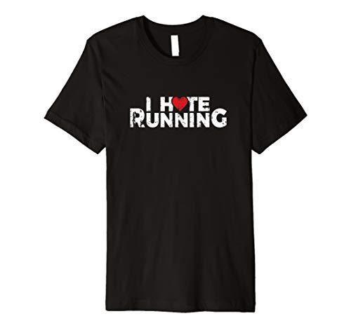 I hate Running Love Herz T Shirt-Funny Geschenk für Läufer