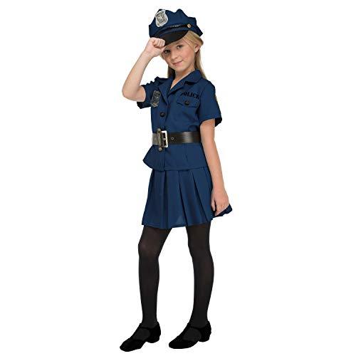 My Other Me Me-204231 Disfraz de policía para niña, 7-9 años (Viving Costumes 204231