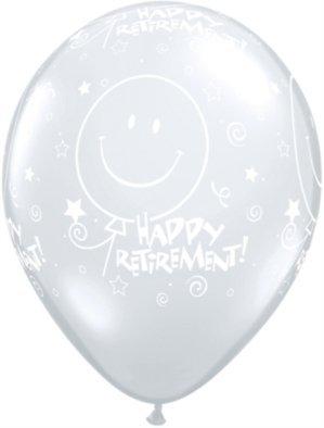 Qualatex 26000Diamond jubilación. Smile face-a-round látex globo, 11pulgadas