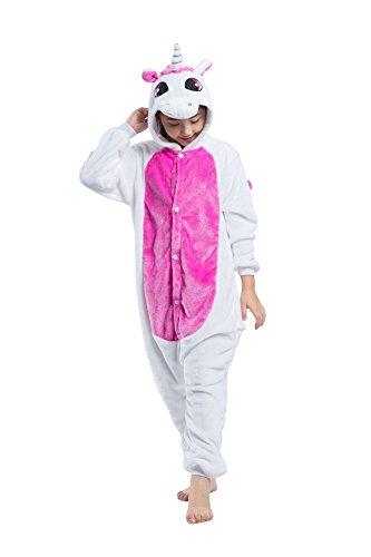 Hstyle Enfants Costume De Licorne Kigurumi Pyjamas Enfants Costume De Cosplay Onesies Rose