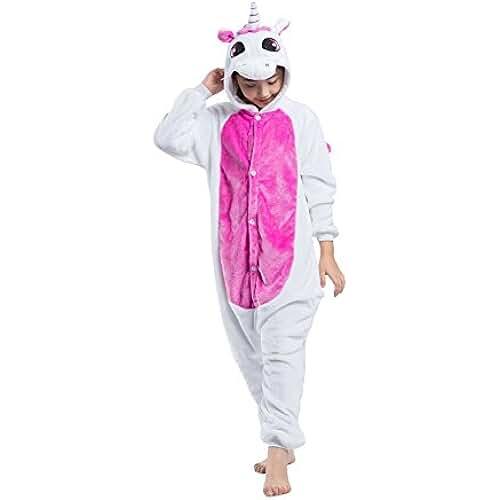 Hstyle Atuendo De Los Niños Unicornio Kigurumi Pijamas De Los Niños Traje De Cosplay Mamelucos