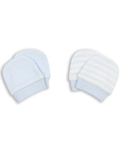 The Essential One - Baby Blau Kratzhandschuhe für Neugeborene/Kratzfäustlinge/Kratzfäustel, Neugeborenenhandschuhe (2 Paar) ESS80