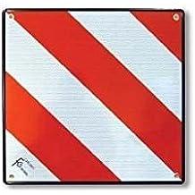 Placa V20 homologada 4 agujeros . Placa carga sobresaliente. Placa portabicicleta. Aluminio 500 x 500 mm.
