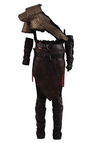 Yewei Actionspiel God 4 Vater Spartan Krato Kostüm Herren Halloween Kostüm Outfit (Braun, XXXL)