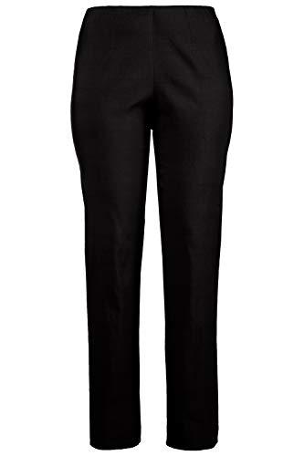 Ulla Popken Große Größen Damen Klassische Bengalin Hose Schwarz (Schwarz 10), 52 - Elegantes Shirt Hose