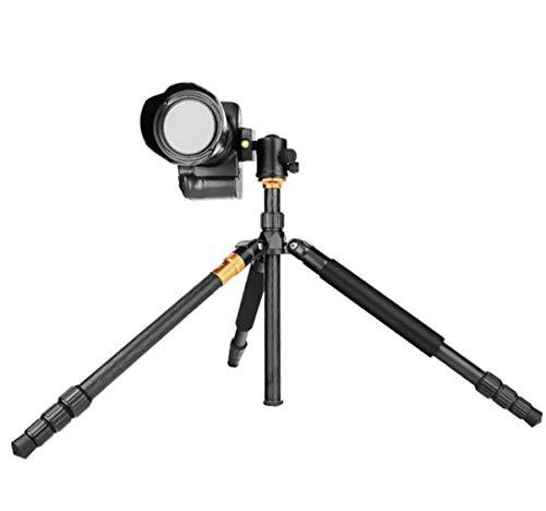 AXNYLHY CAMERA Tragbares Stativ, erweiterbarer Kamerastativ-Kugelkopf-Einbeinstativ 43cm bis 159cm, 360 Grad Schwenk- / Neigungsrotation, Aluminiumlegierungsfotografiehalterung -
