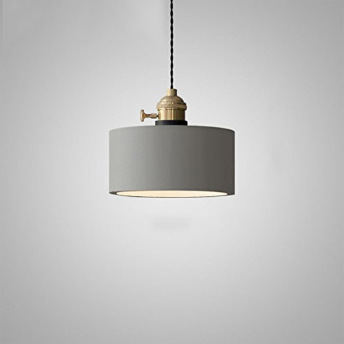 & Innenpendelleuchte Kronleuchter - Retro Industrie Kronleuchter Nordic Creative Nachttisch Einzelkopf Kronleuchter (Standard warmes Licht) Pendelleuchte (Farbe : D) -