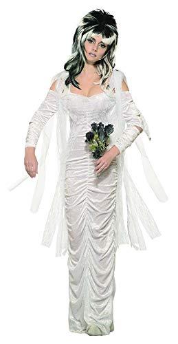 500 Haunted Bride Kostüm, Damen, Weiß, Größe M ()