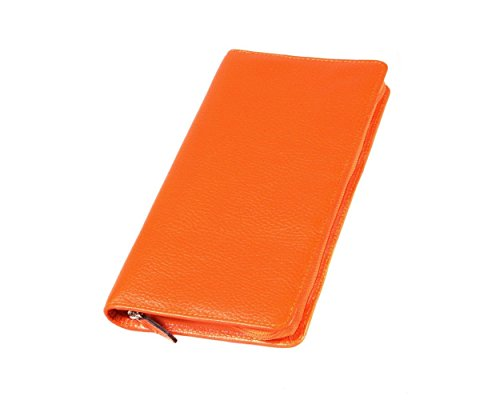 SAGEBROWN Orange Classic Travel Wallet (Travel Classic Wallet)