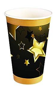 Forum Novelties- Birthday Milestone Paper Cups Copas, Color black, gold (X81669)