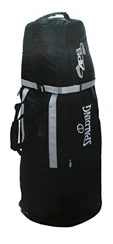 Spalding Golf Travelbag 2 Wheel Travelcover Reisebag (Schwarz)