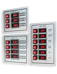 Tableau de commande pour bateau - 3 interrupteurs - argenté
