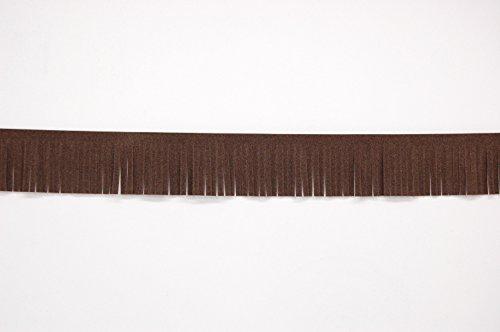 1 metro piel sintética ante borla cortada flecos