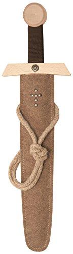 Schwert-Set natur, 50cm Länge mit Schwert aus Buche-Echtholz und Schwert-Scheide aus Filz [Tolles Design | Viele Details| Made in Germany] ()