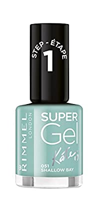 Rimmel London Super Gel by Kate Moss Nail Polish Duo Pack, shade 12, Soul Session, Nude + Gel Top Coat from Coty