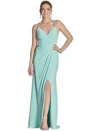 a4413862d6 Tiffanys Illusion Prom Mint Marcie Beaded Cross Back Strap Dress