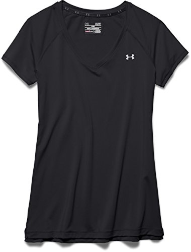 Under Armour Heatgear T-Shirt manches courtes Femme Noir
