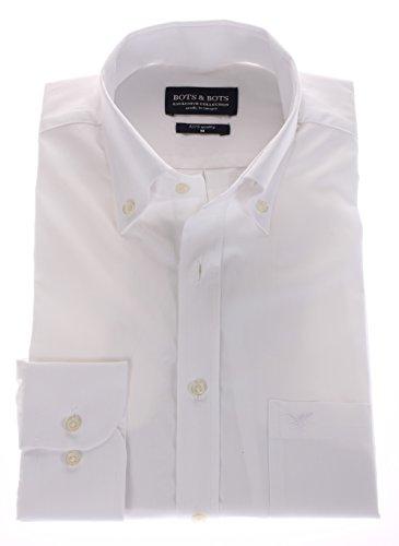 186021-3XL Bots & Bots - Herren Hemd - 50% Baumwolle / 50% Tencel - Button Down - Normal Fit (Seide Baumwolle-button-down-shirt)