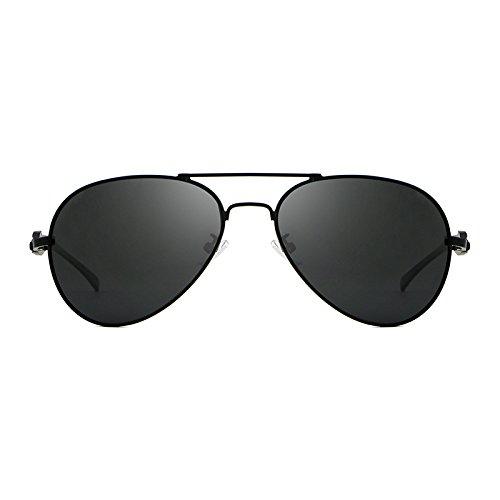 Yiph-Sunglass Sonnenbrillen Mode Mens-Sonnenbrille polarisierte Katzenaugen Frauen golden wie Kurata Sun-Brille oculos männlicher Hombre UV400 geben Verschiffen frei (Color : Black)