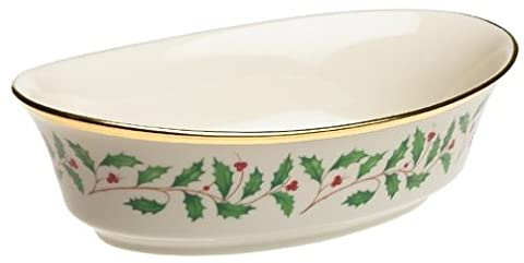 Lenox Holiday Gold-Banded Fine China Large Open Vegetable Bowl