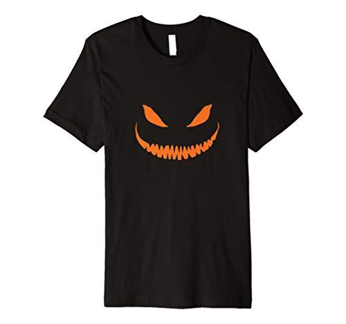 (Halloween T-Shirt Jack O 'Laterne Kürbis Gesicht)