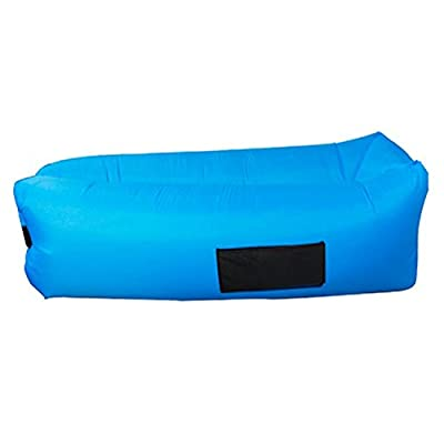 VITCHELO Inflatable Lounger, Sofa, Couch, Seat & Air Bag. Suitable for Camping, Lounging, Beach, Park & Festivals. Supports Up to 400lbs. 8.2 ft Long. Floatable, Foldable, Rip & Tear-Stop Lazy Bag - low-cost UK light shop.