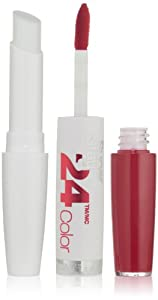 Maybelline New York Superstay 24, 2-step Lipcolor, Keep It Red 035