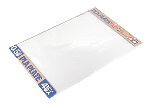 TAMIYA 70123 - Kunststoff-Platte 0.5 mm, 4 Stück, 257 x 364 mm, weiß 0.5-platte