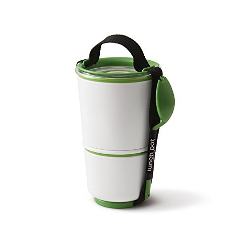 Green Lunch-box Go (Black+Blum Lunch Pot - Lunch Box Grün/Weiss - Essensbehälter)