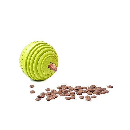 JFya Hundespielzeug undicht Lebensmittelball, um verstümmelte Artefakt Intelligenz molaren Biss Puzzle Spielzeug töten Zeit Lieferungen zu entlasten (Farbe : Green)