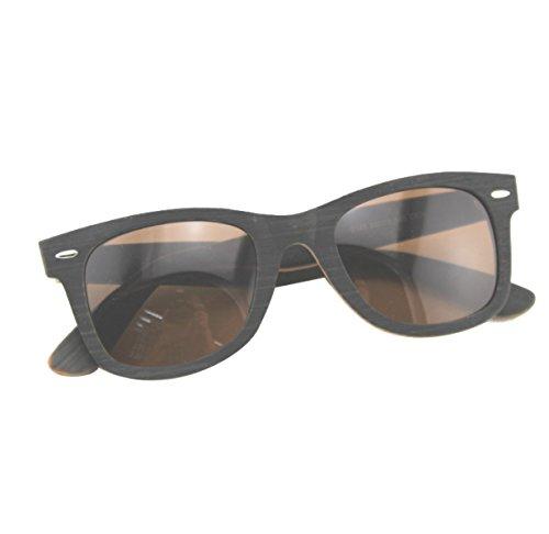 HAOYUXIANG Mode Persönlichkeit Platte Holz Fahren Angeln Polarisieren Sonnenbrillen,C19
