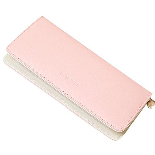 Amlaiworld 2017 Wallet Donna ragazze carino Fashion Coin portafoglio borsa Key Holder (Viola) Rosa