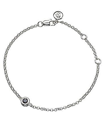 Molly Marron Pierre porte-bonheur Septembre saphir argent bracelet