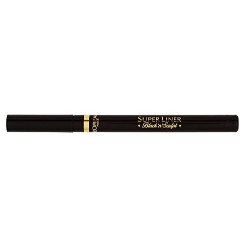 L'Oréal Paris Super Liner Black'n'Sculpt, schwarz - Eyeliner mit kugelförmiger Filzspitze, revolutionäre Sculpting Technologie - für ein präzises Konturieren der Augen, 1er Pack (1 x 2 g) -