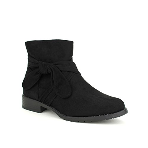 BELLOS Femme Noir Bottine Noire Cendriyon Daim Chaussures tgqSHnf8w