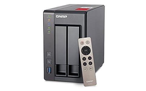 QNAP TS-251+-8G/2TB-RED 2TB (2x 1TB WD) 2 Bay NAS Unit mit 8GB RAM