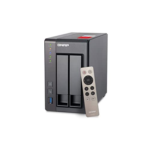 319CYm4OTwL. SS500  - QNAP TS-251+-2G 2 Bay Desktop High-performance NAS Enclosure - 2 GB RAM, Intel Celeron 2.0 GHz Quad Core Processor - Supporting HDMI, Transcoding and Virtualization