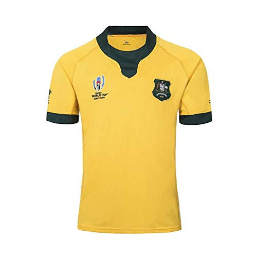 Pilang American Football Sportkleidung, Australian-Team Rugby World Cup, lässiges T-Shirt Kleidung (Color : Yellow, Size : M)