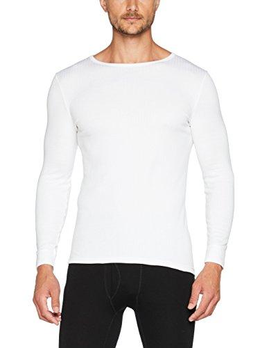 68c33122ca6f5 Damart tee-Shirt Manches Longues Thermolactyl Camiseta térmica, Blanc,  Large para Hombre